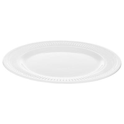 SANNING Plate, white, 27 cm