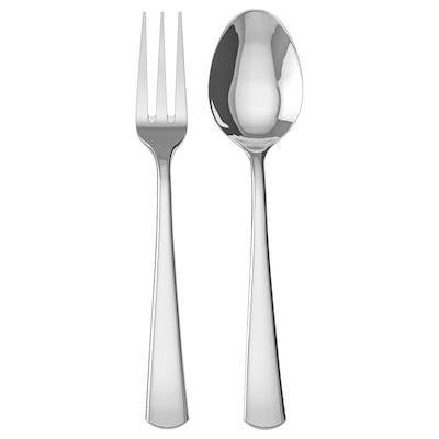 SEDLIG 2-piece serving set, stainless steel, 24 cm
