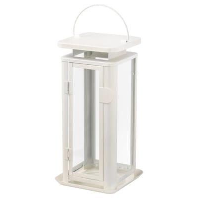 SINNESRO Lantern f block candle, in/outdoor, white, 29 cm