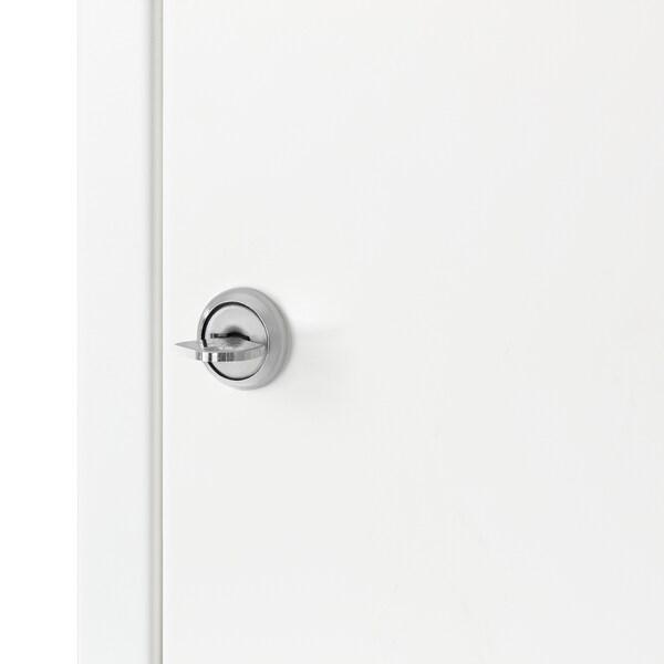 SISTRANDA Lockable cabinet, white, 35x25 cm