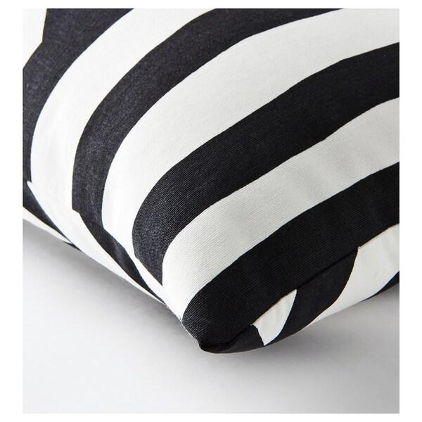 SKÄRVFRÖ Cushion, black/white, 30x60 cm