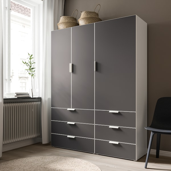 SKATVAL Drawer, white/dark grey, 80x57x20 cm