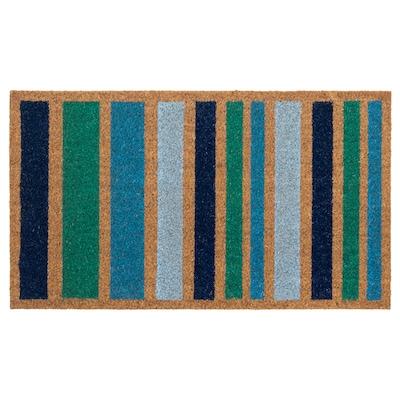 SKIBINGE Door mat, stripe/multicolour, 40x70 cm