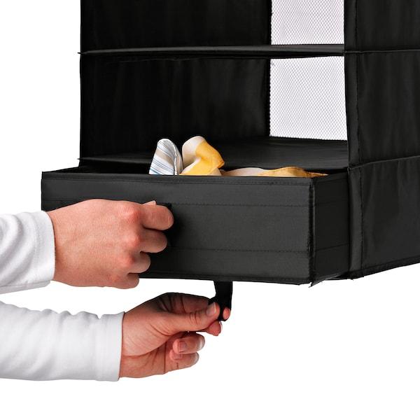 SKUBB box with compartments black 44 cm 34 cm 11 cm