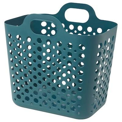 SLIBB Flexible laundry basket, turquoise