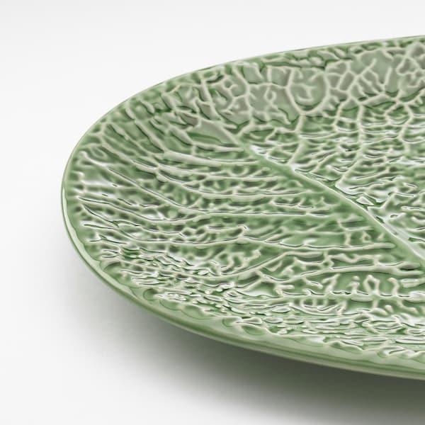 SMAKBIT Serving plate, green, 37x25 cm