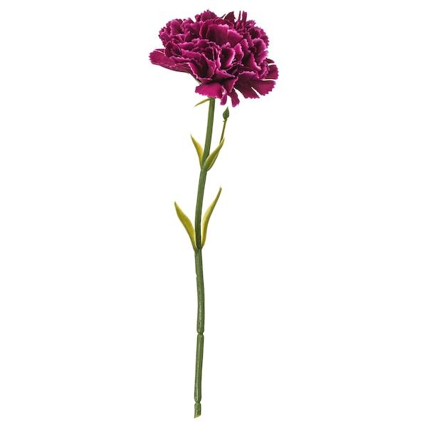 SMYCKA Artificial flower, carnation/dark lilac, 30 cm