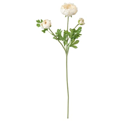 SMYCKA Artificial flower, Ranunculus/white, 52 cm