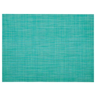 SNOBBIG Place mat, turquoise, 45x33 cm