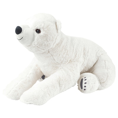 SNUTTIG Soft toy, polar bear/white