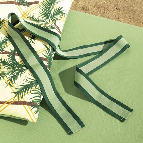SOLBLEKT sunbed pad palm pattern yellow 190 cm 60 cm 5 cm