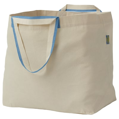 SPIKRAK Carrier bag, large, cotton/natural, 50 l