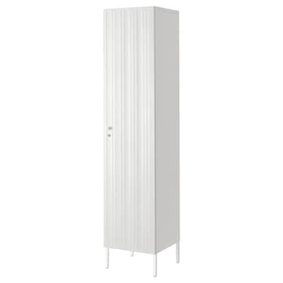 SPONGDAL Storage unit, white, 40x42x183 cm