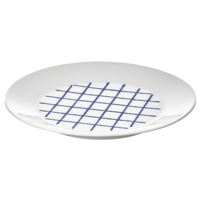 SPORADISK Plate, white/blue, 20 cm
