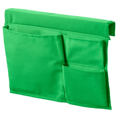 STICKAT Bed pocket, green, 39x30 cm