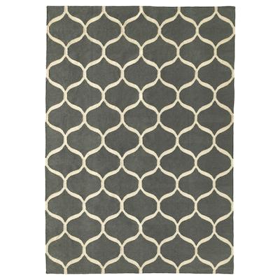 STOCKHOLM 2017 rug, flatwoven handmade/net pattern grey 240 cm 170 cm 4 mm 4.08 m² 1350 g/m²