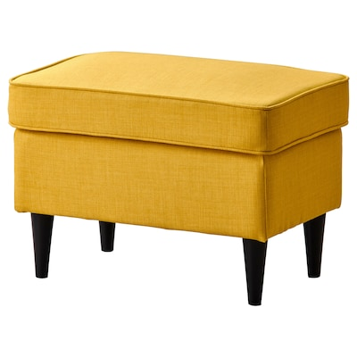 STRANDMON Footstool, Skiftebo yellow