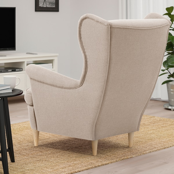 STRANDMON Wing chair, beige