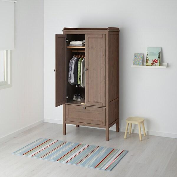 SUNDVIK Wardrobe, grey-brown, 80x50x172 cm