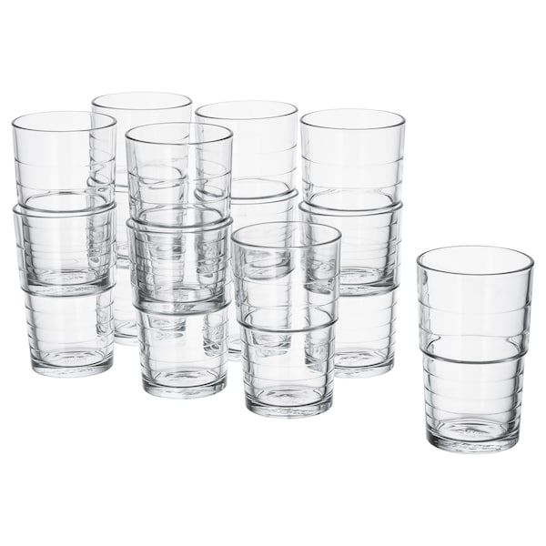 SVEPA glass clear glass 13 cm 31 cl 12 pack