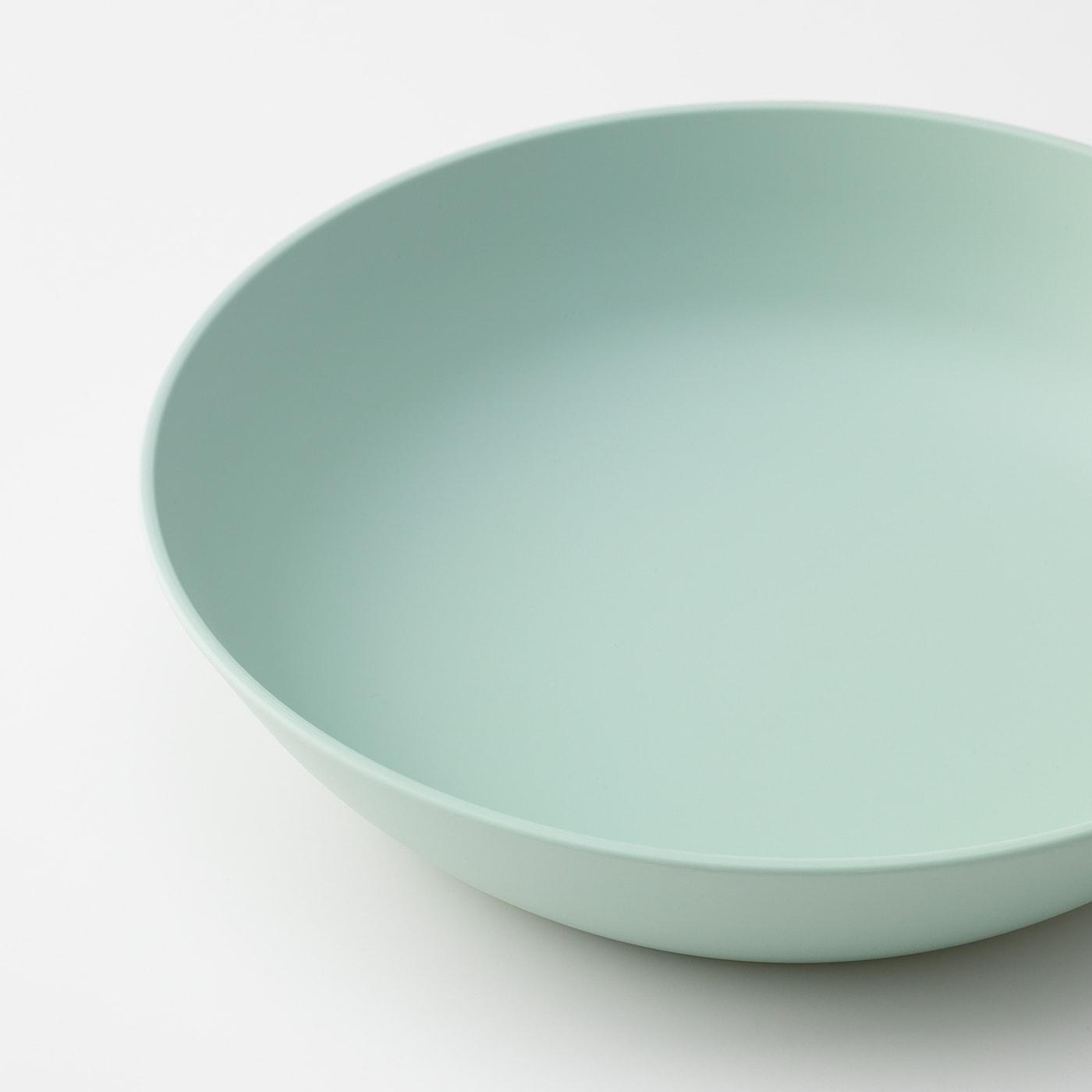 TALRIKA deep plate light green 5 cm 20 cm 4 pack