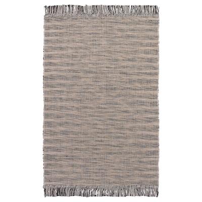 TAULOV rug, flatwoven beige 90 cm 60 cm 3 mm 0.54 m² 1175 g/m²