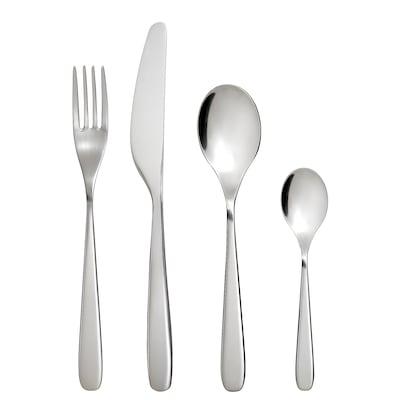 TILLAGD 24-piece cutlery set, stainless steel