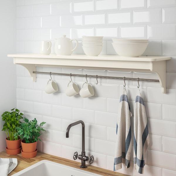 TORNVIKEN Wall shelf, off-white, 120 cm