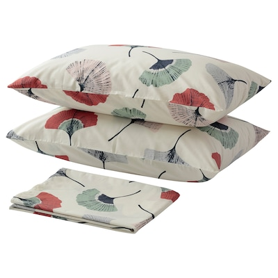 TOVSIPPA Flat sheet and 2 pillowcase, white, 240x260/50x80 cm