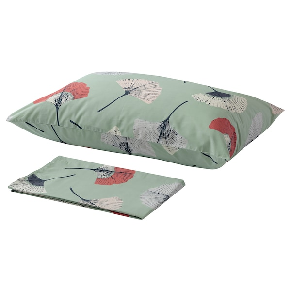 TOVSIPPA Flat sheet and pillowcase, turquoise, 150x260/50x80 cm