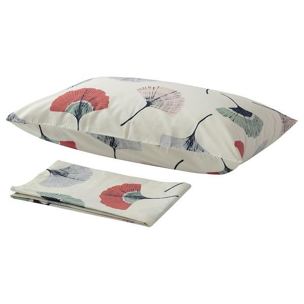 TOVSIPPA Flat sheet and pillowcase, white, 150x260/50x80 cm