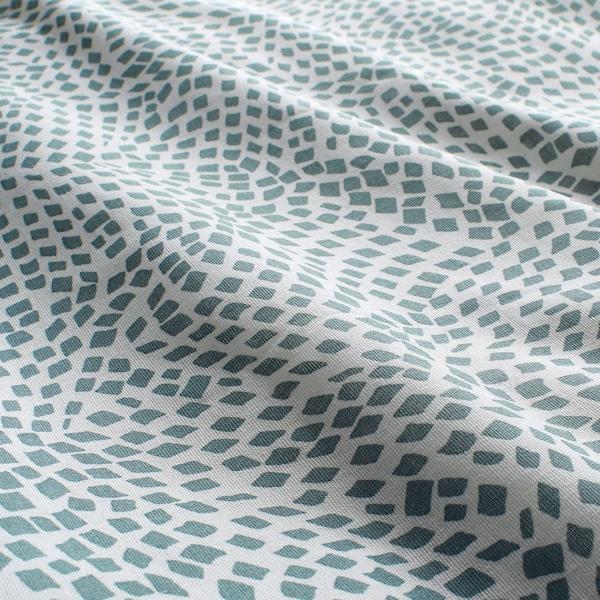 TRÄDKRASSULA Duvet cover and 2 pillowcases, white/blue, 240x220/50x80 cm