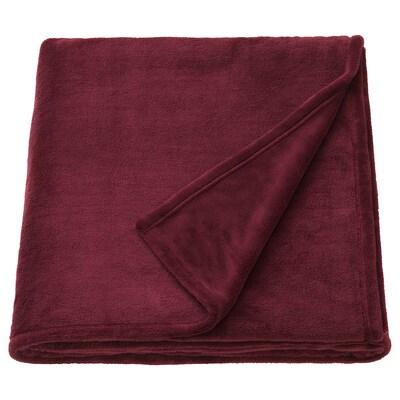 TRATTVIVA Bedspread, dark red, 230x250 cm