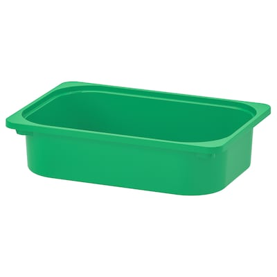 TROFAST Storage box, green, 42x30x10 cm