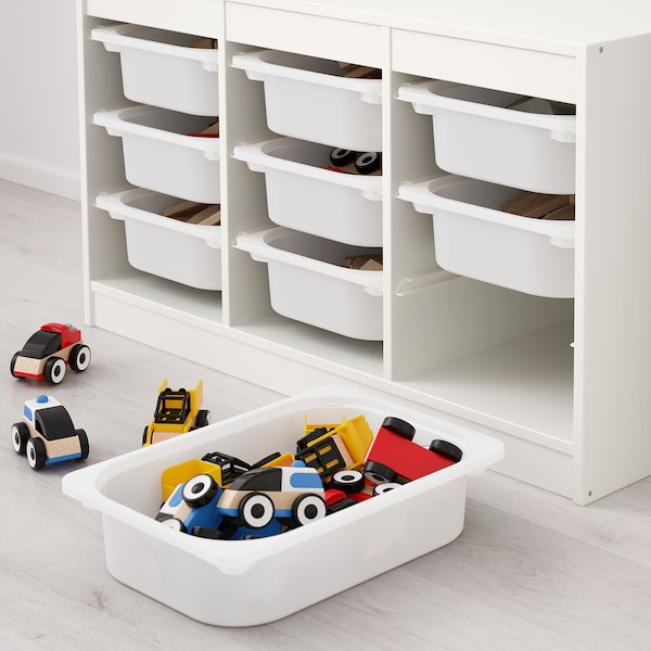 TROFAST storage combination with boxes white/green 99 cm 44 cm 56 cm