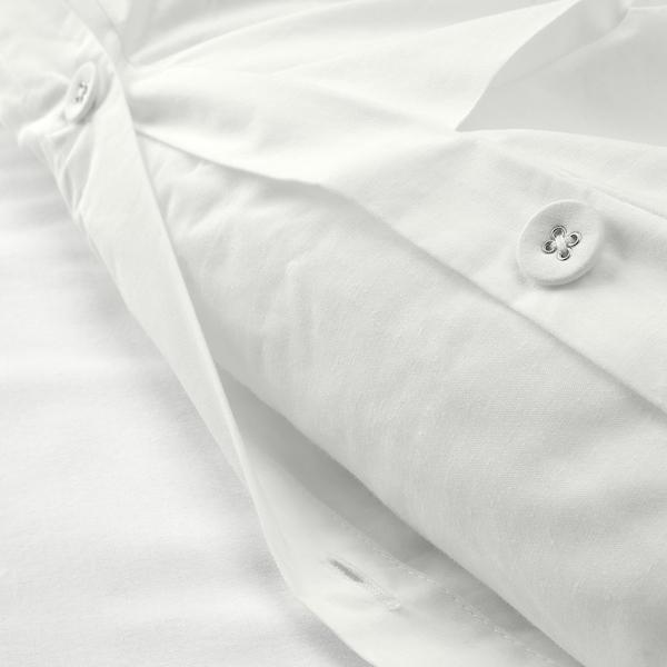 TRUBBTÅG Duvet cover and 2 pillowcases, white, 240x220/50x80 cm