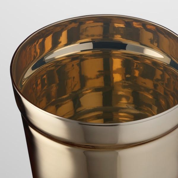 UPPGJORD plant pot brass-colour 12 cm