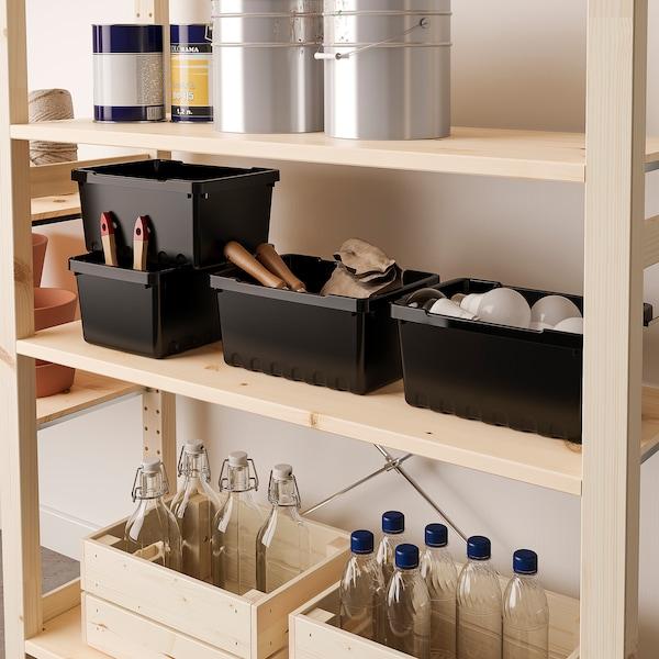 UPPSNOFSAD Storage box, black, 25x17x12 cm/4 l