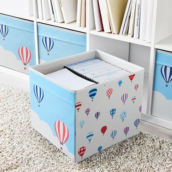 UPPTÅG Box, patterned, 33x38x33 cm