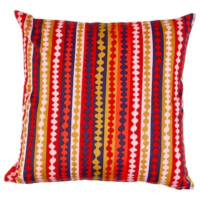 URSPRUNGLIG Cushion cover, multicoloured, dark, 50x50 cm