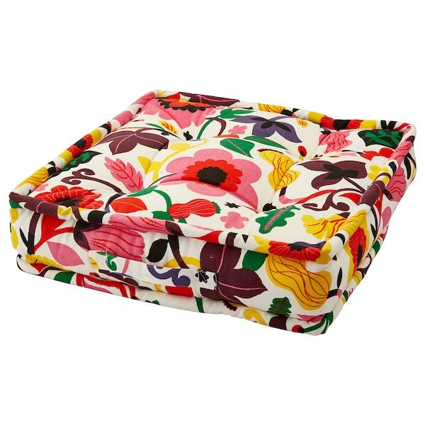 URSPRUNGLIG Floor cushion, floral patterned, 45x45x10 cm