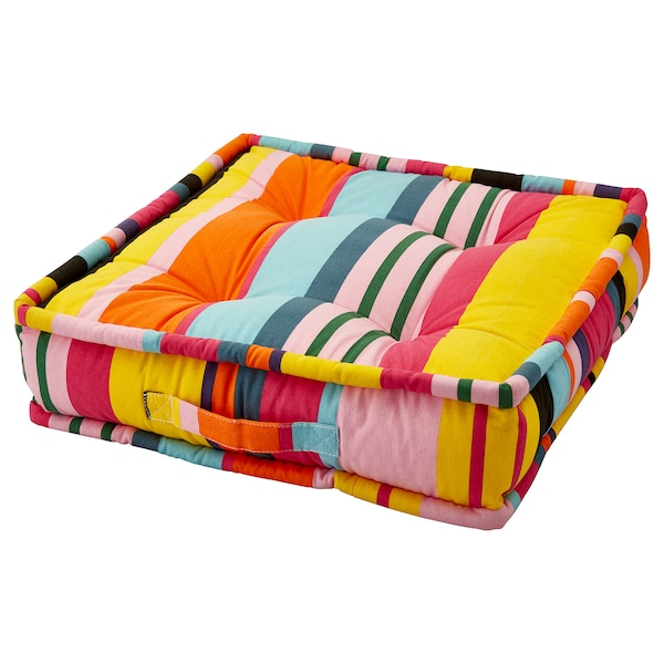 URSPRUNGLIG Floor cushion, stripe, 45x45x10 cm