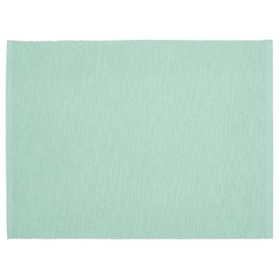 UTBYTT Place mat, light turquoise, 35x45 cm