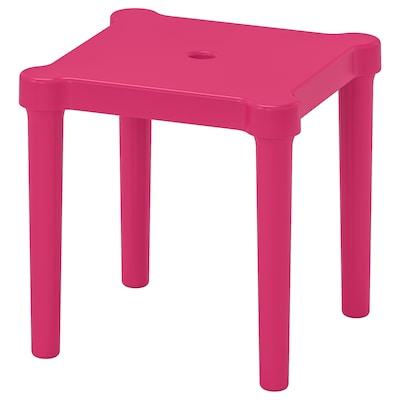 UTTER Children's stool, in/outdoor/pink