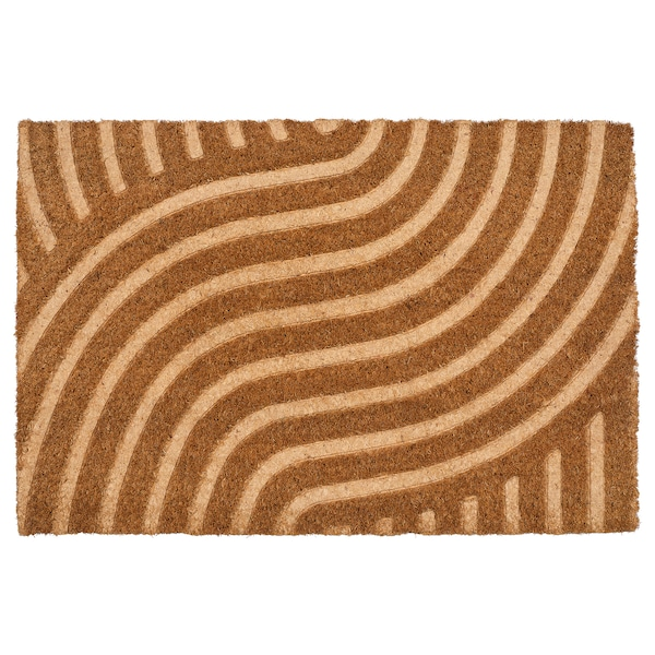 VALLENSVED Door mat, indoor, natural, 40x60 cm