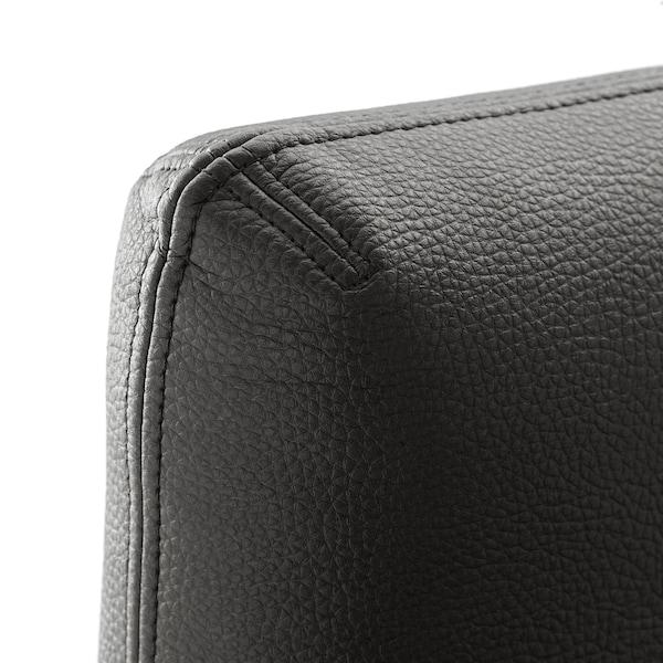 VALLENTUNA Backrest, Murum black, 80x80 cm