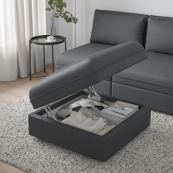 VALLENTUNA Seat module with storage, Kelinge anthracite
