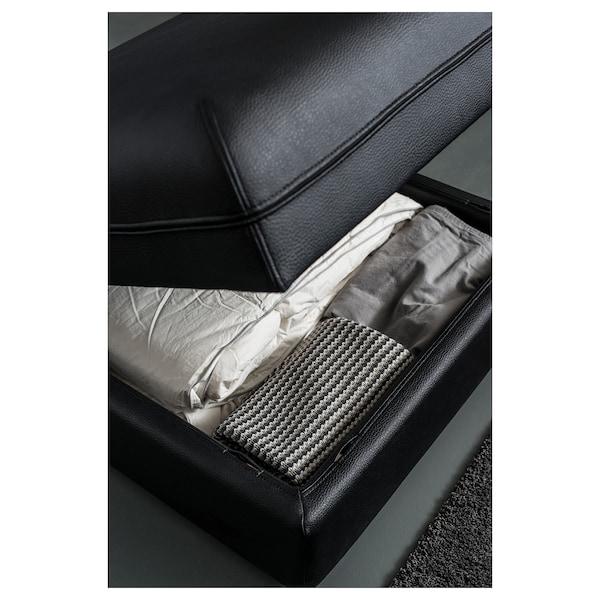VALLENTUNA Seat module with storage, Murum black