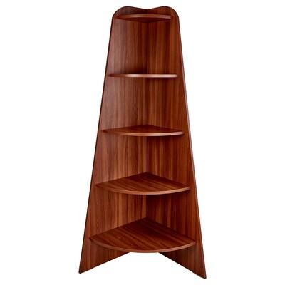 VARBY corner shelf unit medium brown 53 cm 53 cm 155 cm