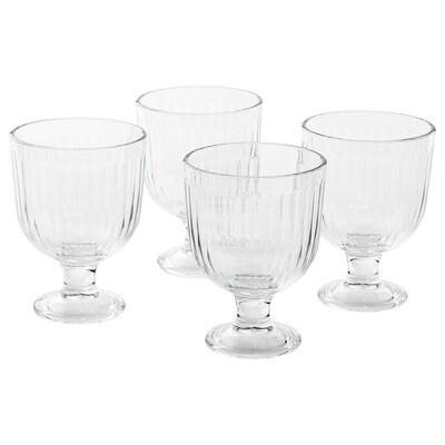 VARDAGEN goblet clear glass 12 cm 28 cl 4 pack
